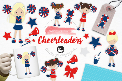 Cheerleaders graphics and illustrations