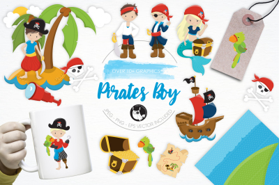 Pirates Boy graphics and illustrations