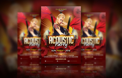 Acoustic Party Flyer