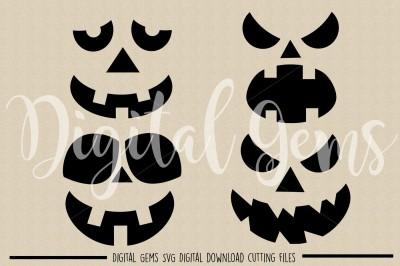 Pumpkin Faces SVG / DXF / PNG Files