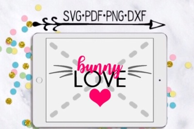 Bunny Love Cut Design