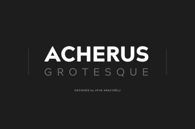 Acherus Grotesque Typefamily 80% Off