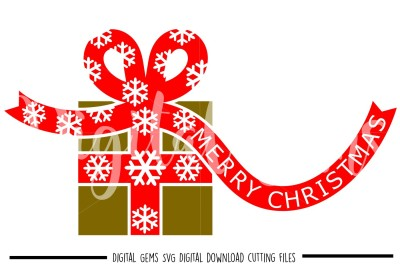 Christmas Present SVG / DXF / EPS / PNG Files