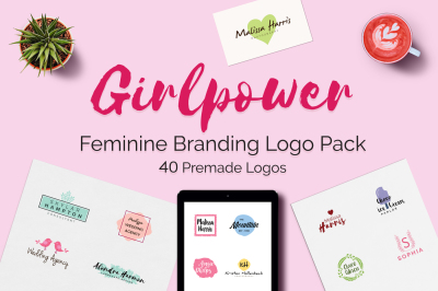 GIRLPOWER Feminine Branding Logo Pack