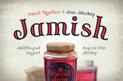 Jamish Font & Mockup