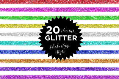 20 Glitter Photoshop style