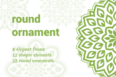 Greenery round ornaments
