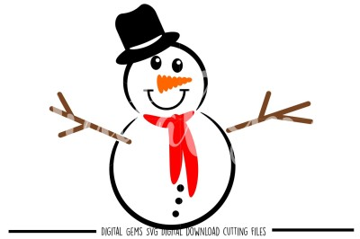 Snowman SVG / DXF / EPS / PNG Files