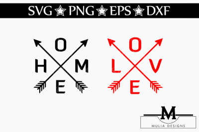Home And Love Arrow SVG
