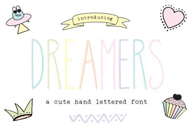 Dreamers handlettered font