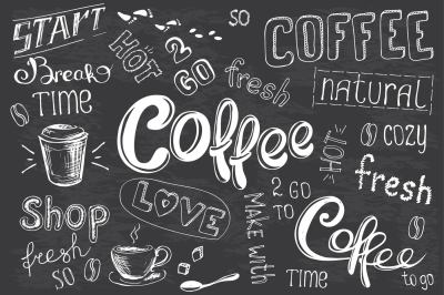 Big Set Coffee lettering