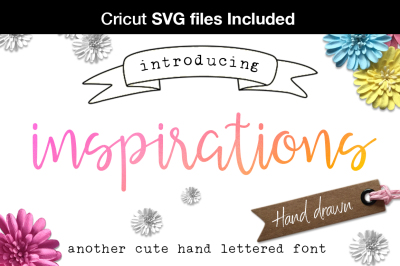 Inspirations script - Inc. SVG fonts for Cricut