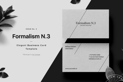 Formalism N.3 Business Card Template