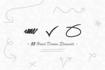 55 Hand Drawn Vector Elements