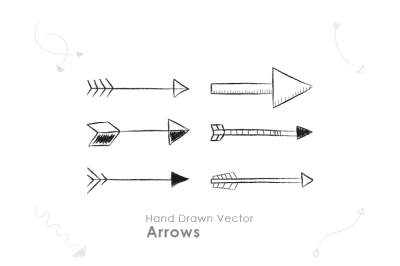 45 Hand Drawn Vector Arrows
