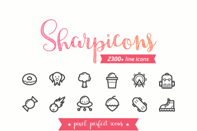Sharpicons - 2300 Line Vector Icons