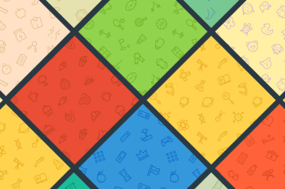 24 Seamless Vector Icon Patterns