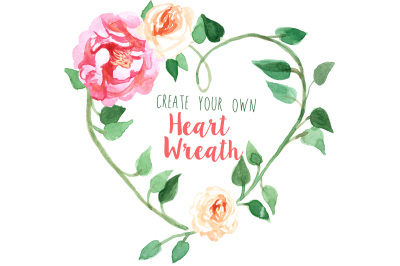 Create Your Own Heart Wreath