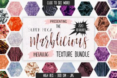 820 Metallic Marble Textures HUGE Bundle