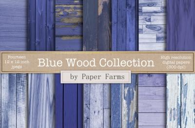 Blue Wood Backgrounds