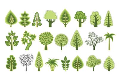 Set trees PNG, JPG