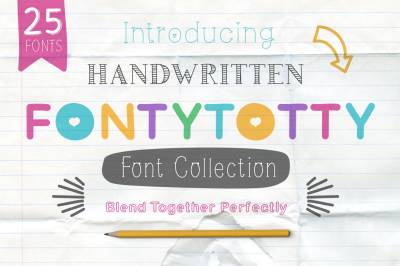 Fontytotty 25 Font Collection