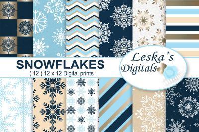 Winter Digital Paper - Snowflake
