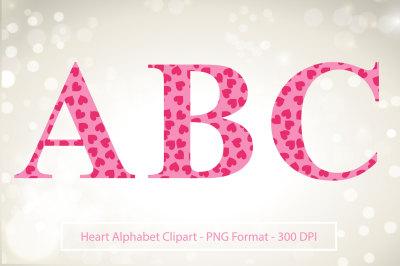 Heart Letter Clip Art - Valentine Clipart Letters