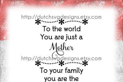 Text cutting file Mother, in Jpg Png SVG EPS DXF, for Cricut & Silhouette cameo curio, mother mothersday mom mum, Samantha font