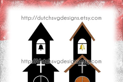 2 Church cutting files, in Jpg Png SVG EPS DXF, for Cricut & Silhouette, clipart, vector, diy, chapel, religion, religious, cuttable