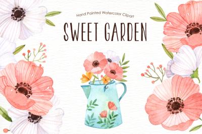 Sweet Garden Watercolor clipart