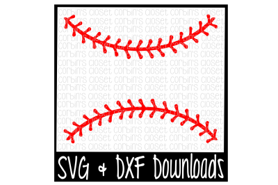 Baseball Thread SVG * Softball Thread SVG Cut File