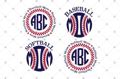 Baseball/ Softball Mom SVG files