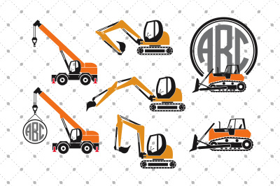 Transport SVG files, Construction Transport SVG