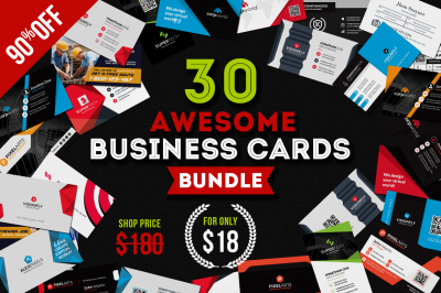 30 Awesome business cards bundle