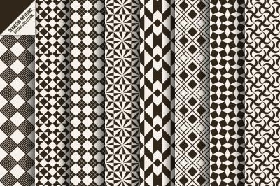Set of stylish seamless patterns