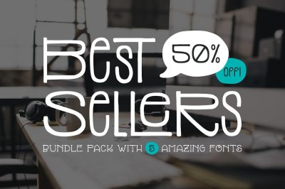 Top 5 Bestselling Fonts Bundle Pack