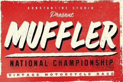 Muffler Brush Hand Lettering font