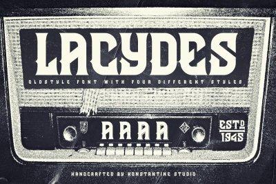 Lacydes Vintage Branding font