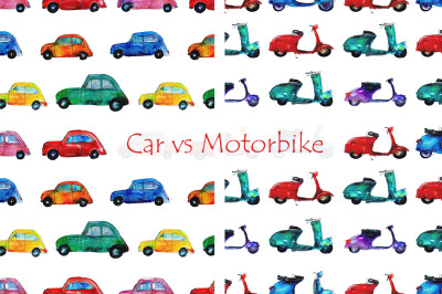 Car and motorbike patterns