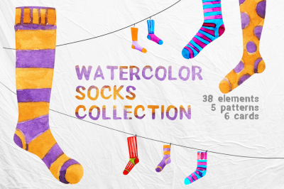 Watercolor socks collection