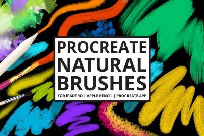 25 Procreate Natural Media Brushes