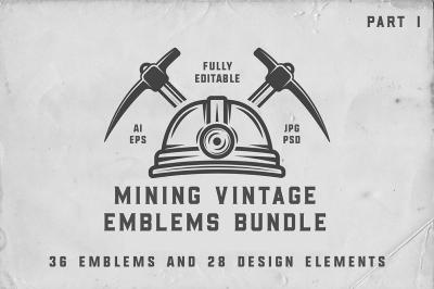 36 Vintage Mining Emblems part 1