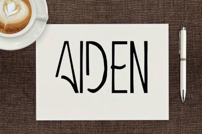 Aiden Art-Deco Display Font