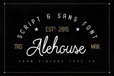 Alehouse Sans + Script Combo