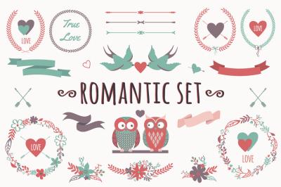 Romantic Set with Decorative Elements