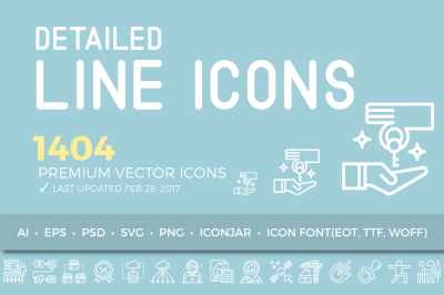 LineSen Detailed Line Icons Collection