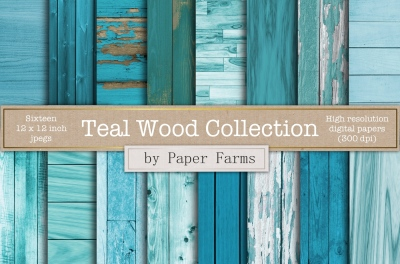 Teal wood backgrounds
