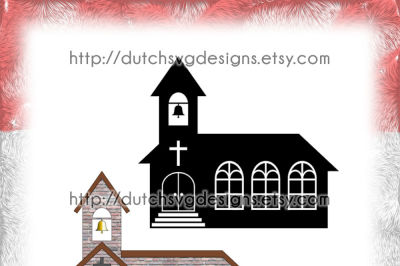 2 Church cutting files, in Jpg Png SVG EPS DXF, for Cricut & Silhouette, church svg, religious svg, baptism svg, wedding svg, vector