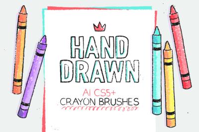 AI crayon brushes